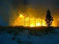 The Vail resort in flames.