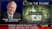 Graphic of Frank VanderSloot, appearing on Fox News.