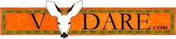 VDare.com logo. VDare is the new home of racist columnist John Derbyshire.