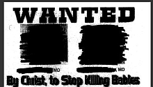 A portion of the 'Wanted' poster featuring the names, photos, and addresses of two Charlotte-area abortion doctors, distributed by Operation Save America.