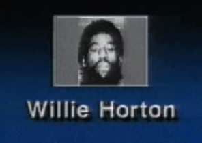 The image of Willie Horton as shown in the 'Weekend Pass' campaign ad.
