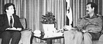 Joseph Wilson and Saddam Hussein, during their August 6 meeting.