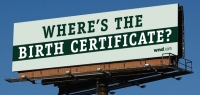 One of the billboards erected by WorldNetDaily.