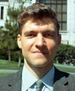 A photograph of Theodore 'Ted' Kaczynski, taken in 1968 while Kaczynski was a young faculty member at the University of California at Berkeley.