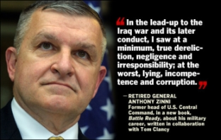 CBS graphic illustrating interview with General Anthony Zinni.