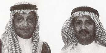 Salem bin Laden, left, and Bakr bin Laden, right. Salem is killed in a plane crash in 1988.