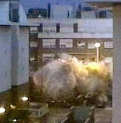 The explosion in the Leganes apartment.