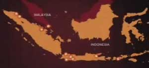 Location of the Indonesian cities hit in the Christmas Eve bombings.