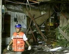 Damage to a restaurant in Kuta, Bali, in 2005.