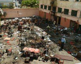 The Casa de Spain was one of the bombed buildings in Casablanca.