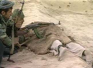 A Taliban fighter killed in the battle for Qala-i-Janghi fortress.