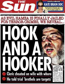 The Sun announces Abu Hamza's arrest in typically dramatic fashion.