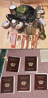 Items seized in a raid on Abu Hamza's Finsbury Park mosque in January 2003.