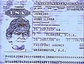 Page from a passport used by Anne Linda Jenkins, one of the CIA officers who kidnapped Hassan Mustafa Osama Nasr.
