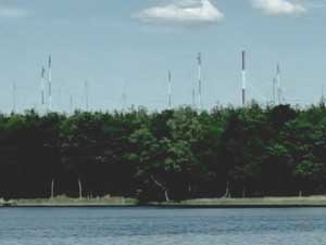 "Communications antenna at Stare Kiejkuty, the Polish ""black site"" where Khalid Shaikh Mohammed was held for a time after his capture."