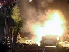 Benazir Bhutto's motorcade bombed in Karachi.