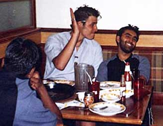 Anthony Garcia (left) and Omar Khyam (right) facing the camera, in Pakistan in 2003. Both will be sentenced to life in prison for the fertilizer bomb plot.