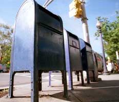 The FBI claims the anthrax letters were sent from the middle mailbox of these three mailboxes on Nassau Street, Princeton.