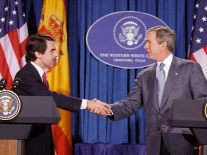 President Bush and Prime Minister Aznar.