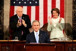 George W. Bush delivering his State of the Union address.