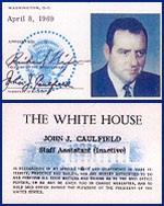Jack Caulfield&#8217;s White House ID card.