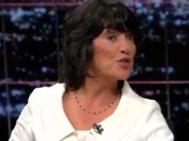 "Christiane Amanpour on ""Real Time With Bill Maher"" on October 3, 2008."