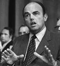 John Ehrlichman testifies before the Senate Watergate Committee.