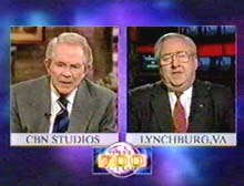 Pat Robertson and Jerry Falwell on the 700 Club.