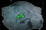 "Map of the US-occupied ""Green Zone"" inside Baghdad."