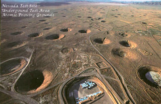 Aerial view of Los Alamos test site.