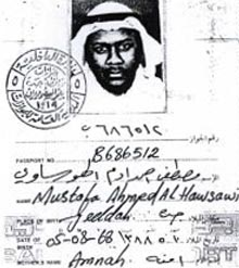 Photo and signature from Mustafa Ahmed al-Hawsawi's passport.