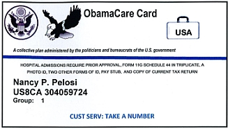 Fake 'ObamaCare' card distributed by FreedomWorks.