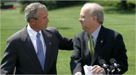 President Bush and Karl Rove.