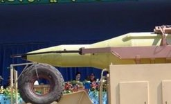 Iranian Shahab III missile on display.