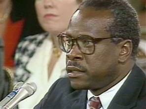 Clarence Thomas defends himself against Anita Hill's allegations.