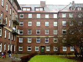 The apartment building in Wilhelmsburg where Atta and his associates live in 1998.
