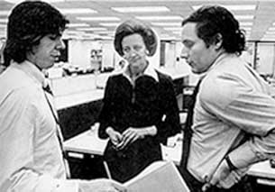 Carl Bernstein, Katherine Graham, and Bob Woodward discuss the newspaper's Watergate coverage.